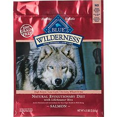 Blue Buffalo Wilderness Salmon Adult Dry Dog Food.  Regular price with 24 lbs is $63.99