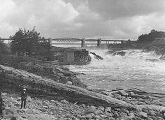 Østfold fylke Sarpsborg  Sarpefossen rundt 1900 Niagara Falls, Nature, Travel, Naturaleza, Viajes, Destinations, Traveling, Trips, Nature Illustration