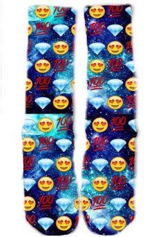 Blue Emoji Socks