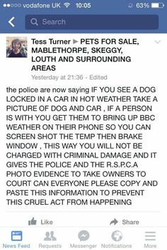 Break a window...save a pets' life!