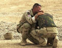 This image is so powerful to me and breaks my heart. Pray for our Nation and our Troops.
