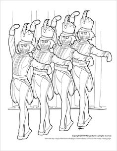 Nutcracker Ballet Coloring Pages Free
