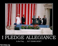"""http://pronewsonline.com Just another Picture that reflects Obama NOT Showing his support for america...this happens alot in the pictures I see of Obama and his wife Michelle...Ever stop to wonder""""WHY""""...they don't place their hand on their hearts??Or show the slightest Respect for the American Flag?? Obama is a POS!"""