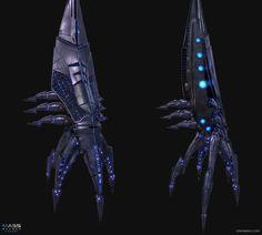 Mass Effect Reaper Fan Art, Simon Barle Mass Effect Reapers, Fantasy Demon, Reaper Tattoo, Star Force, Creature Concept Art, Starcraft, Stargate, Ship Art, Leg Tattoos