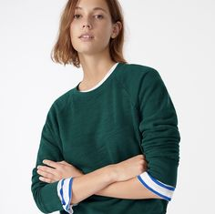 Let's Find This Reader a Workhorse Sweatshirt! Vintage Cotton, Cashmere Sweaters, J Crew, Crew Neck, Fashion Outfits, Pullover, Clothes For Women, Sweatshirts, Tops