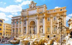 The Fontana di Trevi or Trevi Fountain in English is a fountain in Rome, Italy. The Trevi Fountain is one of the top attractions in Rome and one of the most Hotel Rome, Rome Hotels, City Wallpaper, Widescreen Wallpaper, Custom Wallpaper, Photo Wallpaper, Most Romantic Places, Beautiful Places, Venice