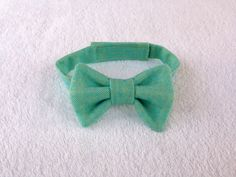 Mint bow tie Ring Bearer bow tie baby tie boys by fourtinycousins, $15.00