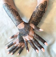 Trendy And Stunning 140 Finger Mehndi Designs For 2020 Brides Full Hand Mehndi Designs, Mehndi Designs For Fingers, Fingers Design, Bridal Mehndi Designs, Simple Mehndi Designs, Mehandi Designs, Arabian Mehndi Design, Mehndi Design Pictures, Mehndi Patterns