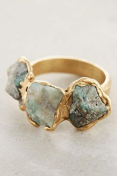 Maneto Emerald Ring - anthropologie.com