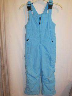 COMPANY KIDS Sz 4 Blue Front Zipper Bib Snow Suit Girls or Boys Pockets  #CompanyKids #SnowsuitSkisuit #Everyday