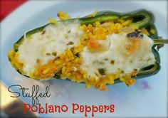 Southwest Style Crab Stuffed Poblano Peppers  l www.lorisculinarycreations.com  l  #SouthwestRecipe #Poblano