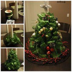 How to DIY Ribbon Christmas Tree Centerpiece   www.FabArtDIY.com LIKE Us on Facebook ==> https://www.facebook.com/FabArtDIY