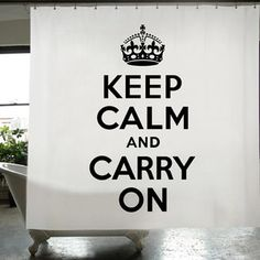 Keep Calm Shower Curtain now featured on Fab.