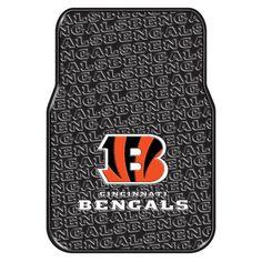 Cincinnati Bengals NFL Car Front Floor Mats (2 Front) (17x25)