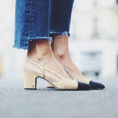 Pour ou contre le retour des slingback Chanel   Chaussures Été 2018,  Soulier Femme, 7d4ebcfe39d