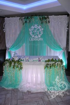 Quinceanera Party Planning – 5 Secrets For Having The Best Mexican Birthday Party Quinceanera Decorations, Wedding Stage Decorations, Backdrop Decorations, Quinceanera Party, Wedding Reception Backdrop, Wedding Wall, Diy Wedding, Party Kulissen, Tiffany Blue Weddings