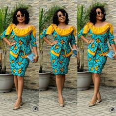 2019 Short African Dresses for Beautiful Ladies. Follow ZAINEEY for more amazing Styles.
