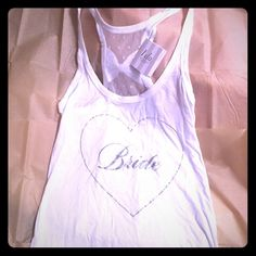 BRAND NEW Victoria's Secret I Do Bride Tank Completely new with tags. Adorable bride tank with a bow on the back! Size S!  Victoria's Secret Tops Tank Tops