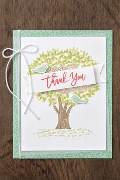 The Thoughtful Branches stamp set and thinlit set feature a variety of gorgeous tree images. #stampinup #thoughtfulbranches
