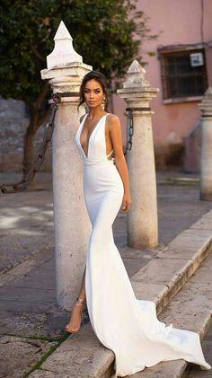 Dream Wedding Dresses, Bridal Dresses, Wedding Gowns, Prom Dresses, Wedding Dresses With Slit, Civil Wedding, Party Gowns, Boho Wedding, Gown With Slit