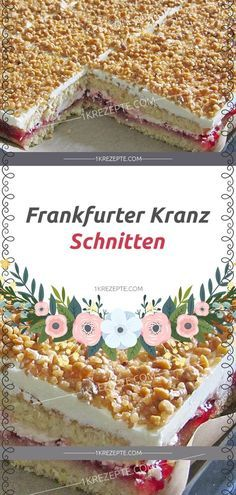 Frankfurt wreath cuts – simple recipes Informations About Frankfurter Kranz Schnitten – Einfache Rezepte Pin You can easily use my Bread Recipes, Baking Recipes, Cookie Recipes, Pasta Recipes, Oreo Desserts, Pudding Desserts, Dessert Bread, Food Cakes, Clean Eating Snacks