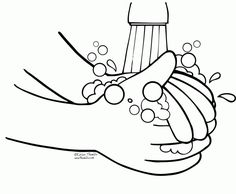 Hand Washing Germ Coloring Pages | Cub Scouts | Pinterest | Life ...