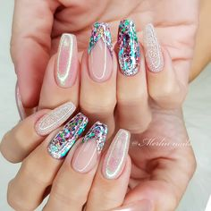 Are you looking for hot manicure nails design? Mainstream social apps will give you the right answer. The manicure nail design that most people pursue will not go wrong, isn't it? Manicure Nail Designs, Cute Nail Designs, Nail Manicure, Nails Design, Love Nails, Pretty Nails, Stylish Nails, Bling Nails, Perfect Nails