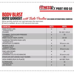 Fitness RX Body Blast Home Workout