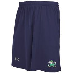 Under Armour Notre Dame Fighting Irish Navy Blue Tech Novelty Performance Mesh Shorts