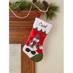 9502e364dcd Personalized Snow Cap Christmas Stocking