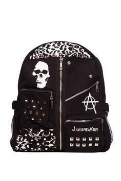 698885fa2974f Jawbreaker Skull Tartan Leopard Backpack Rucksack Bg3586 Alternative School  Bag