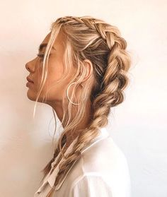 French Braid Hairstyles, Frontal Hairstyles, Braided Hairstyles For Black Women, Retro Hairstyles, Summer Hairstyles, Easy Hairstyles, French Braids, Hairstyles For Teens, School Hairstyles