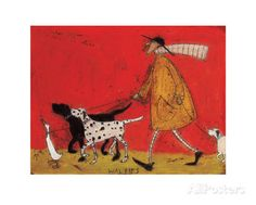 Walkies by Sam Toft. Art Print from AllPosters.com, $21.99