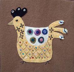Urban Chickens Applique Embroidery PDF by ThreeSheepStudio