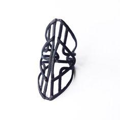 Automaton Ring cuff - copper - adjustable - handmade in my Austin, Tx studio - Jamie Spinello