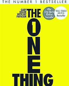 Book recommendation. The One Thing #entrepreneur
