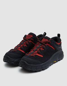 9118755dffe229 EG x Hoka TOR Ultra Low Sneaker in Black Racing Red Engineered Garments