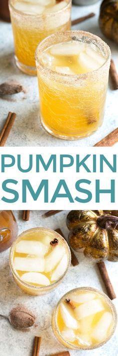 Bourbon Pumpkin Smash | cakenknife.com #cocktail #pumpkinspice #cinnamon #syrup
