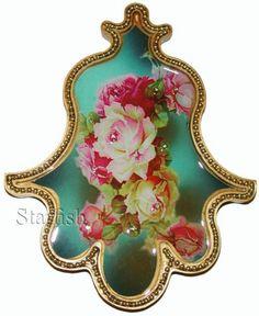 Michal Negrin Antique Style Roses Wall Decor Hamsa