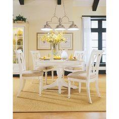 White round kitchen table for breakfast nook