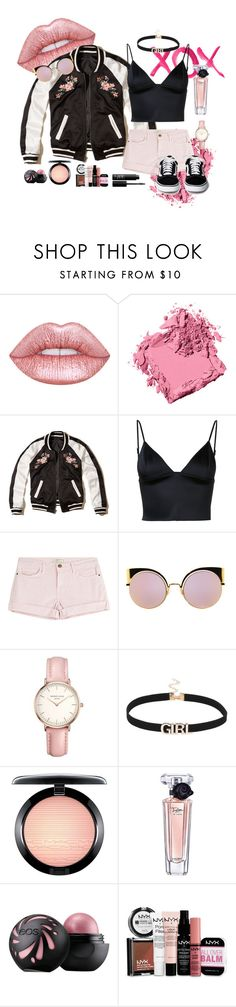 """""""Dusty Rose"""" by tiasriv ❤ liked on Polyvore featuring Bobbi Brown Cosmetics, GALA, Hollister Co., T By Alexander Wang, Current/Elliott, Fendi, Topshop, MAC Cosmetics, Lancôme and NYX"""