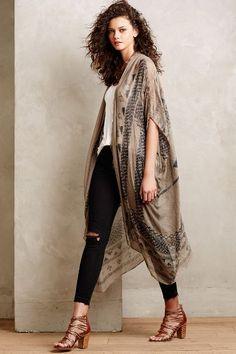 Desert Etched Kimono #Anthropologie