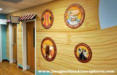 """""""Noah's Ark"""" church mural. www.ImaginationAtmospheres.com"""