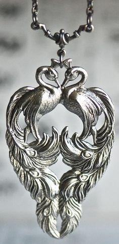 Silver Peacock Necklace