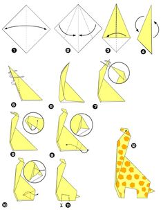 Origami de la jirafa                                                                                                                                                                                 Más