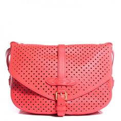a4e603d748e1 This is an authentic LOUIS VUITTON Sofia Coppola Flore Saumur in Corail.  This stylish shoulder bag is crafted of coral perforated leather. Jessica  Markham