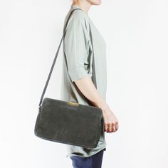 Anais in charcoal nubuck #handbag by Shannon South