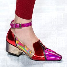 Best Runway Shoes at Milan Fashion Week Spring 2017 Dream Shoes, Crazy Shoes, Me Too Shoes, Ankle Strap Heels, Ankle Straps, Bobo Shoes, Splendid Shoes, Runway Shoes, Creative Shoes