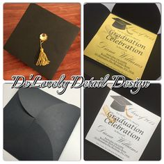 Custom Graduation Cap Party Invitations by DeLovelyDetailDesign