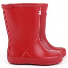 Hunter  'Kid's First Welly' boots in red